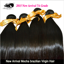 7A Unprocessed Mocha Hair Products 3 pcs Lot Brazilian Virgin Hair Extension Wholesale Straight Human Hair Weaves Free Shipping(China (Mainland))