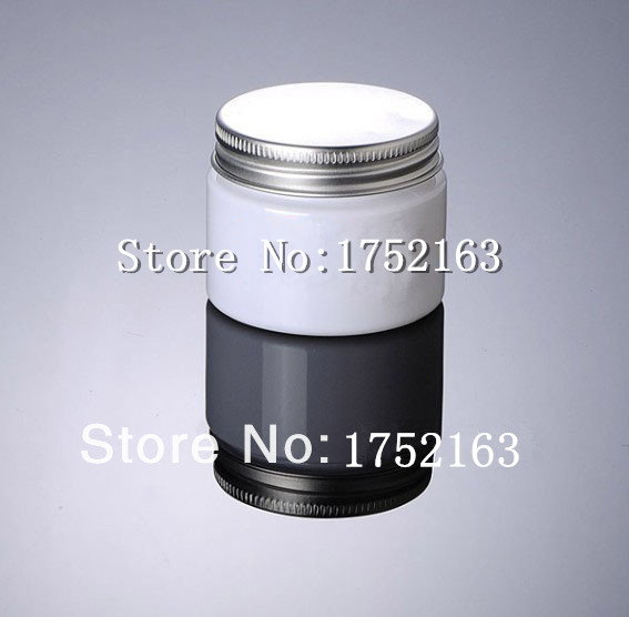 ,50ml jar white PET cream bottle aluminum caps ,cosmetic container,empty jars,Cosmetic Jar - Mini packing world store