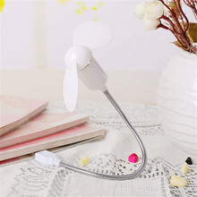 Mini USB LED Fan Metal USB Cable Gadget Flexible Programmable LED Cooler Cooling Fan