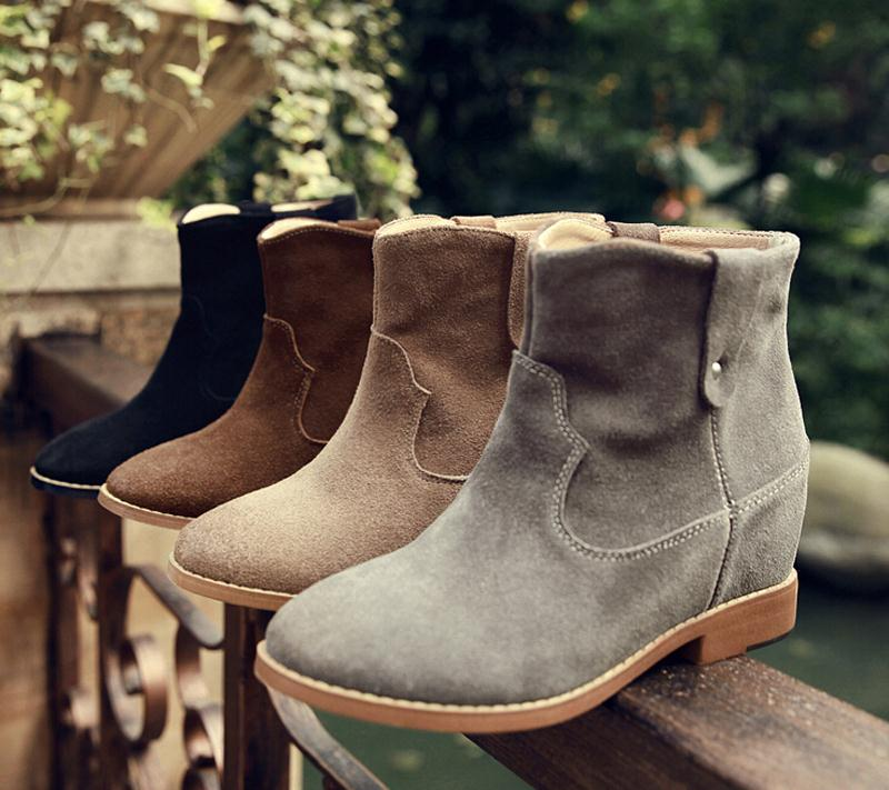 new  leather ankle boots fashion women boots flats winter shoes ladies female autumn boots round toe platform boots<br><br>Aliexpress