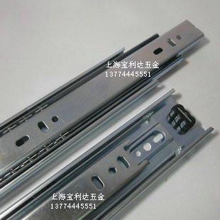 18 -inch black white three cabinet drawer track ball slide rails latest deals thicken(China (Mainland))