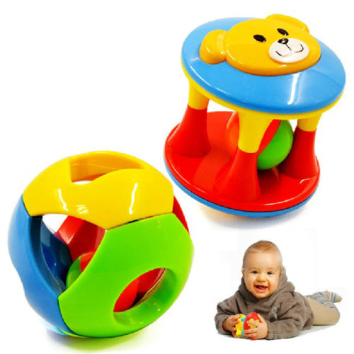 2pcs Baby Toy Fun Little Loud Jingle Ball,Ring jingle Develop Baby Intelligence,Training Grasping ability Toy For Baby 6M-1Year(China (Mainland))