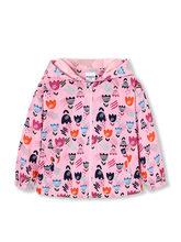 Balabala ילדים בנות מודפס מלא Zip הסווטשרט ברדס מעיל עמיד למים ילדים פעוט ילדה אביב סתיו מעיל בגדי בגדים(China)