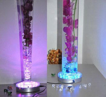 2015 New Products Wedding Decoration free Shipping 10units/lot Remote Controlled Multi-colors Led Centerpieces, Vase Light for