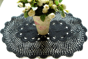 Gothic Black lace  table cloth/placemats oval  16*24 inches (40*60cm)  FREE SHIPPING
