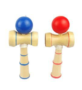 SE Convenient Kid Kendama Coordinate Ball Japanese Traditional Wood Game Skill Educational Toy ES(China (Mainland))
