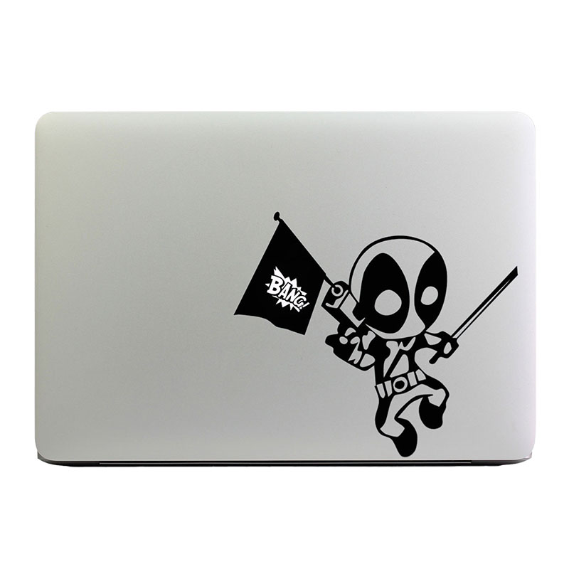 "Deadpool Superheros Laptop Decal for Apple MacBook Sticker 11"" 12"" 13"" 15"" Air/Pro/Retina Art Computer Skin Notebook Sticker(China (Mainland))"