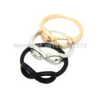 hot! New Style fashion alloy 8 words gold / silver / black ring free shipping jewelry accessories