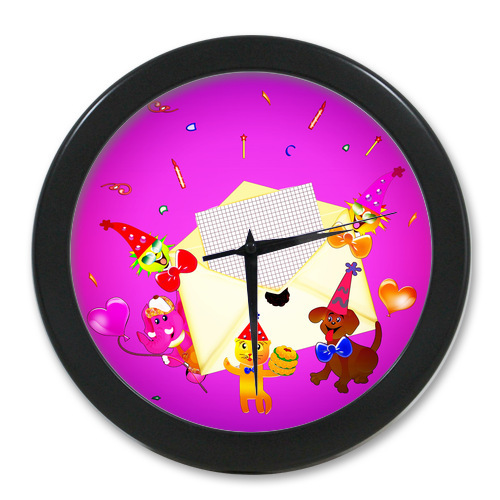 Original Wall Decor Clock Custom Letter From Cute Animal Elegant Wall Clock Modern Design Watch Wall Free Shipping(China (Mainland))