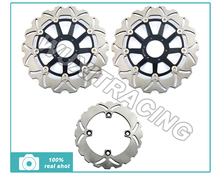 98 99 Black New Front Rear Full Set Brake Discs Disks Rotors fit Honda CB F 600 HORNET FW FX PC34 - Wuxi Thai-Racing Trade Co., Ltd. store