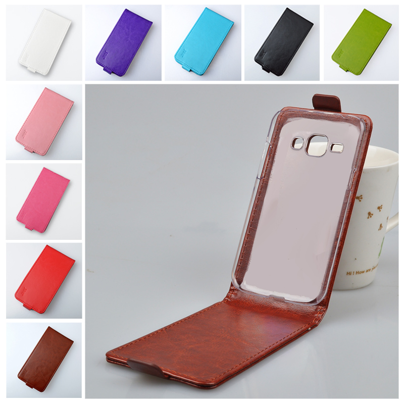 J&R Brand Luxury Leather Flip Case For Samsung Galaxy J1 J100 Cover High Quality 9 Colors in Stock(China (Mainland))