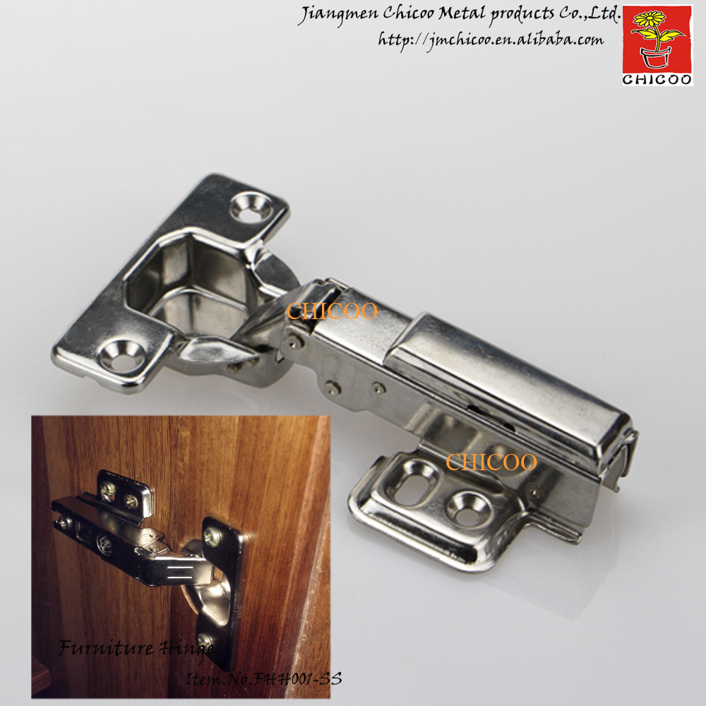 door Hinge Stainless steel 304 Full overlay furniture hinge conceal adjustable hinge kitchen cabinet door hinges(China (Mainland))