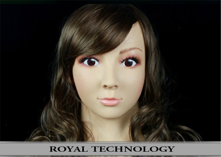 FR-6 Custom head mask realistic handsome full face male silicone - Royal Material Technology Co., Ltd store