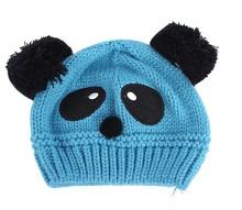 Warm Toddlers Baby Kids Beanie Cap Cartoon Panda Ball Knited Crochet  Winter Hat(China (Mainland))