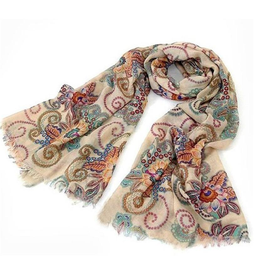Dec 24 Amazing 170cm*80cm Vintage Autumn Winter Scraves Women Laides Scarf Wrap Shawl 2016 New