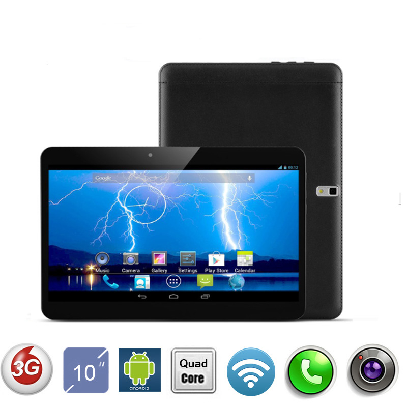 New Arrival Quad Core WCDMA 3G 10 Inch Tablet PC 2GB RAM 16GB ROM Dual SIM Card Android 4.4 GPS 3G tablet PC 7 9 10(China (Mainland))