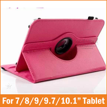 360 Degree Universal 7 8 9.7 10.1 inch Tablet PU Leather Case Stand Cover for Prestigio Multipad 4 explay teclast cube Funda