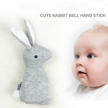 Buy 0-12M Baby toys Rabbit ear asymmetrical Rattle mobile hand stick BB plush toys brinquedos juguetes para bebes jouet for $2.74 in AliExpress store