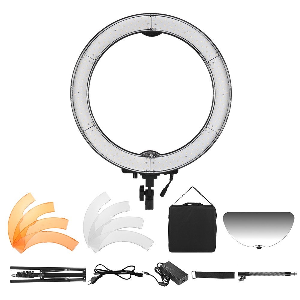 Andoer RL-680S Macro LED Ring Light Video Lamp 55W Dimmable 5500K 240pcs Beads with Filter Flexible Metal Pole Make-up Mirror(China (Mainland))
