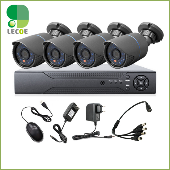 CCTV 4CH AHD DVR Systems with 4pcs 720P AHD 24 LEDS IR Outdoor Bullet Cameras+4pcs 20M/BNC POWER Cables<br><br>Aliexpress