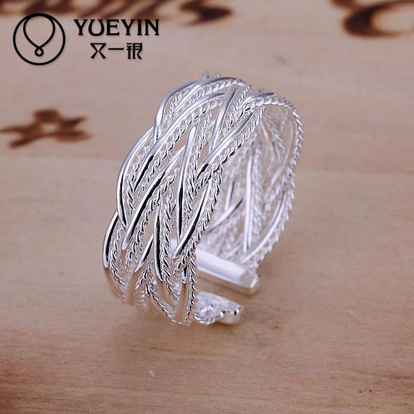 wholesale!! 2015 new 925 sterling silver fashion Jewelry organization thin open anillos rings for women free shippingSR023(China (Mainland))