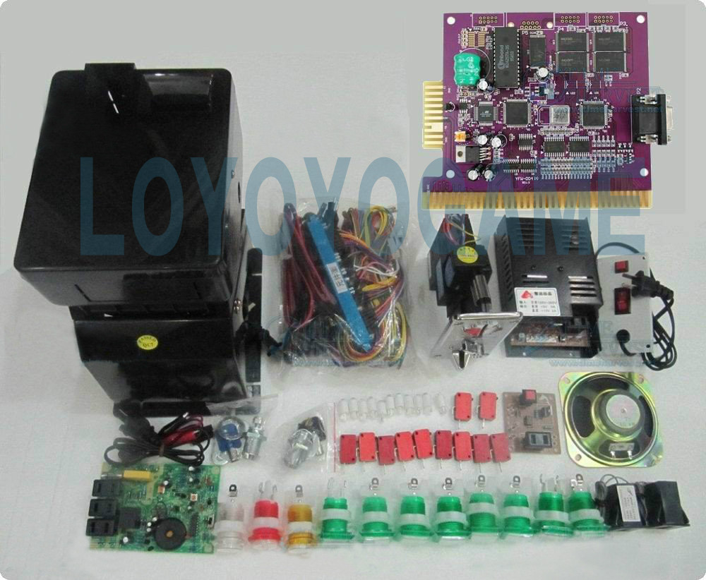 NEW Solt game kits with the 6X PCB, Coinhopper, coin acceptor, buttons, harness. etc for casino slot game machine(China (Mainland))