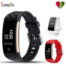 Buy LEMADO S2 Fitness Tracker IP67 Waterproof Smart Band Real Time Heart Rate Wristband Android 4.3 IOS 7.0 Phone for $20.99 in AliExpress store