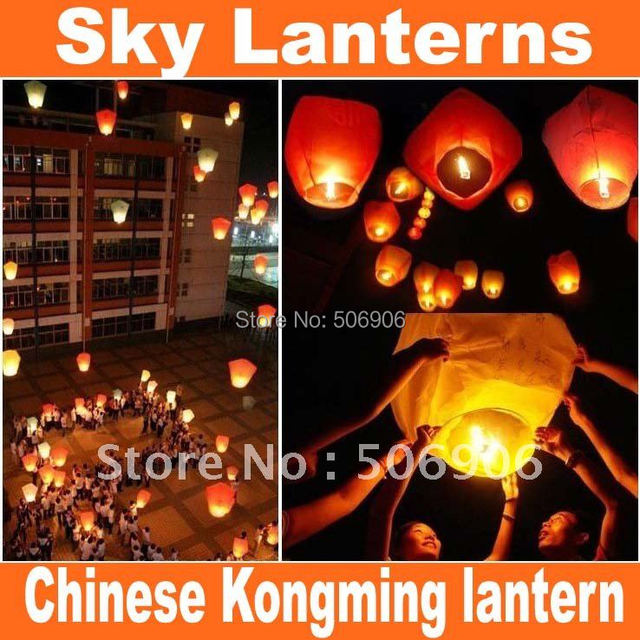 free shipping Sky Lanterns,Wishing Lantern fire balloon Chinese Kongming lantern Wishing Lamp for BIRTHDAY WEDDING PARTY gift