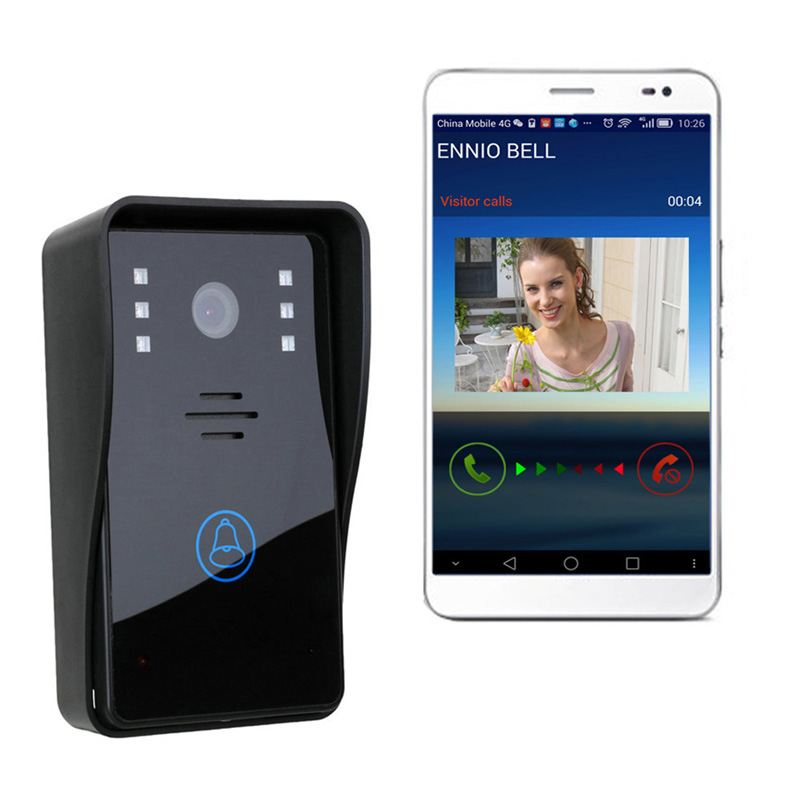 2016 High Quality ENNIO WiFi Remote Video Camera Door Phone Rainproof Intercom Doorbell With ID Acesss control(China (Mainland))
