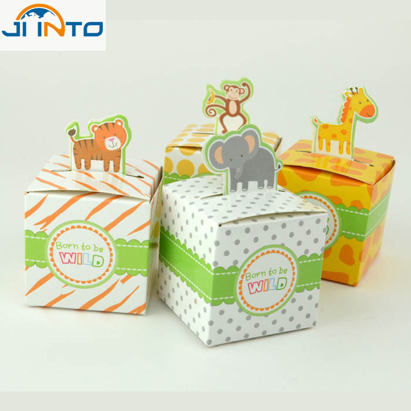 Wedding Party Candy boxes 10Pcs animal shaped Baby shower Favors Gift Box Lowest price(China (Mainland))