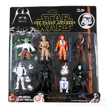 9pcs/1set star wars stormtrooper r2-d2 bb8 kylo ren Anime Toys 6-11cm Action Figure Juguetes Brinquedos Toys gift #874