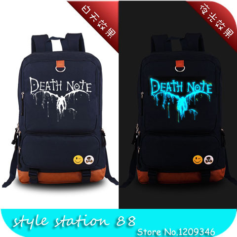 High Quality Japanese Anime Death Note Denim Military Canvas Backpack Tactical Laptop School Bags for Teenagers Mochila Feminina(China (Mainland))