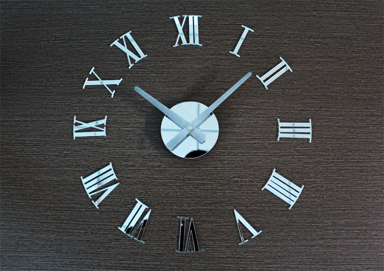 European 3D DIY Roman numerals minimalist living room large fashion art clock creative watch,Creative home decor free shipping