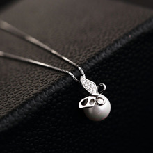 High quality Box Package Fashion Real 925 Sterling Silver Necklace Pendant For Women With Gemstone Butterfly Red Trees Jewelry(China (Mainland))
