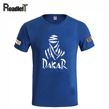 Summer The Paris Dakar motorcycle Rally Commemorative T-shirt Men brand casual cotton t shirts Men's short sleeve printed Tee