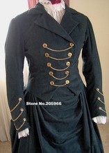 Custom Made -1800s Victorian Dress 1880s Bustle Gown  Riding Habit Equestrian with Jacket Dress &Gothic Bodice