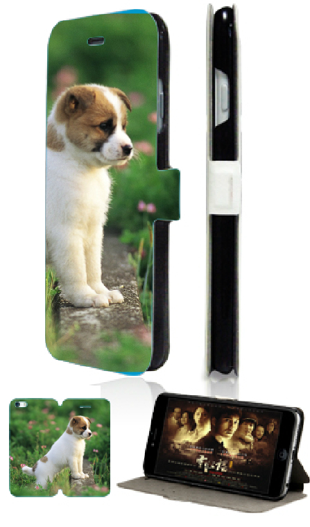 cute animals dog hot selling luxury stand flip wallet leather moible phone bag for ipod touch 4 4th free shipping(China (Mainland))