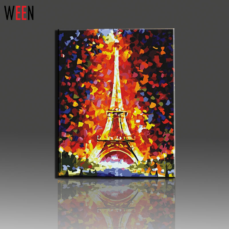 Picture tank picture more detailed picture about eiffel for Peinture sur toile