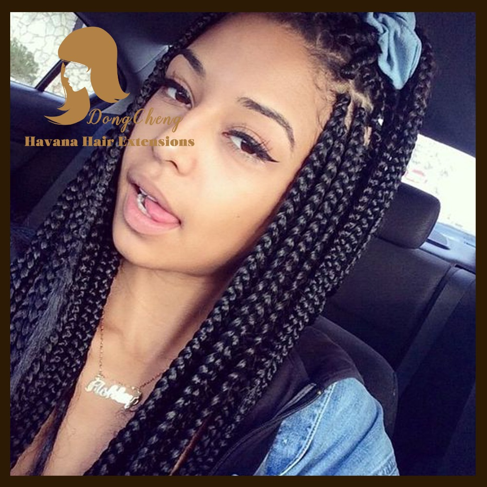 Crochet Box Braids Pre Braided Hair : Hair Pre twisted All Color BOX Braids Extensions Crochet Braiding Hair ...