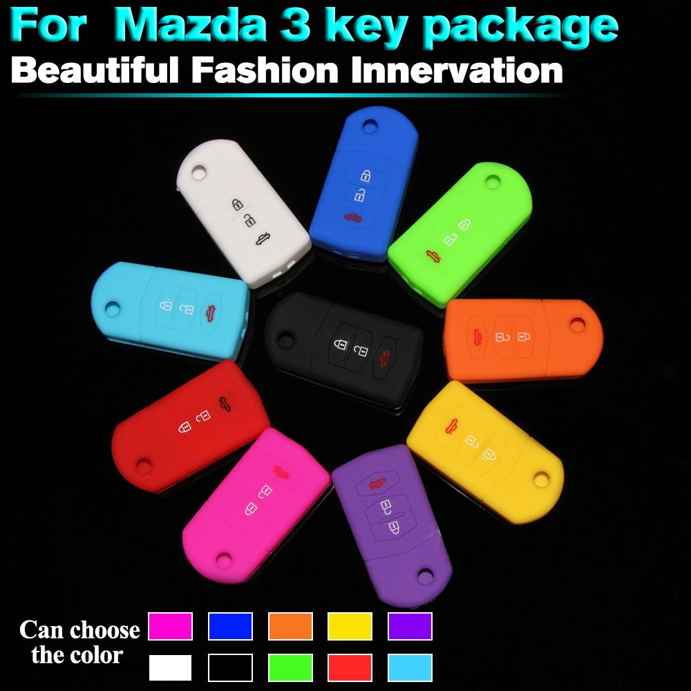 for MAZDA 3 2 6 SILICONE CAR 3 BUTTON FLIP KEY COVER CASE MPS CX7 CX9(China (Mainland))