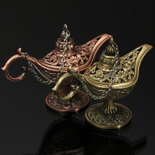 Home Decoration Gifts Vintage Style Fairy Tale Aladdin Magic Lamp Hollow Tea Pot Genie Lamp Retro Toys for Children(China (Mainland))