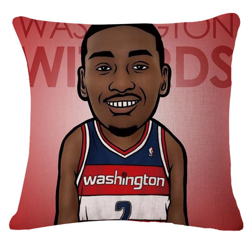European Cushion Home Sofa Car Throw Pillows Basketball star style Cotton Funda Cojin Cushion Cushion