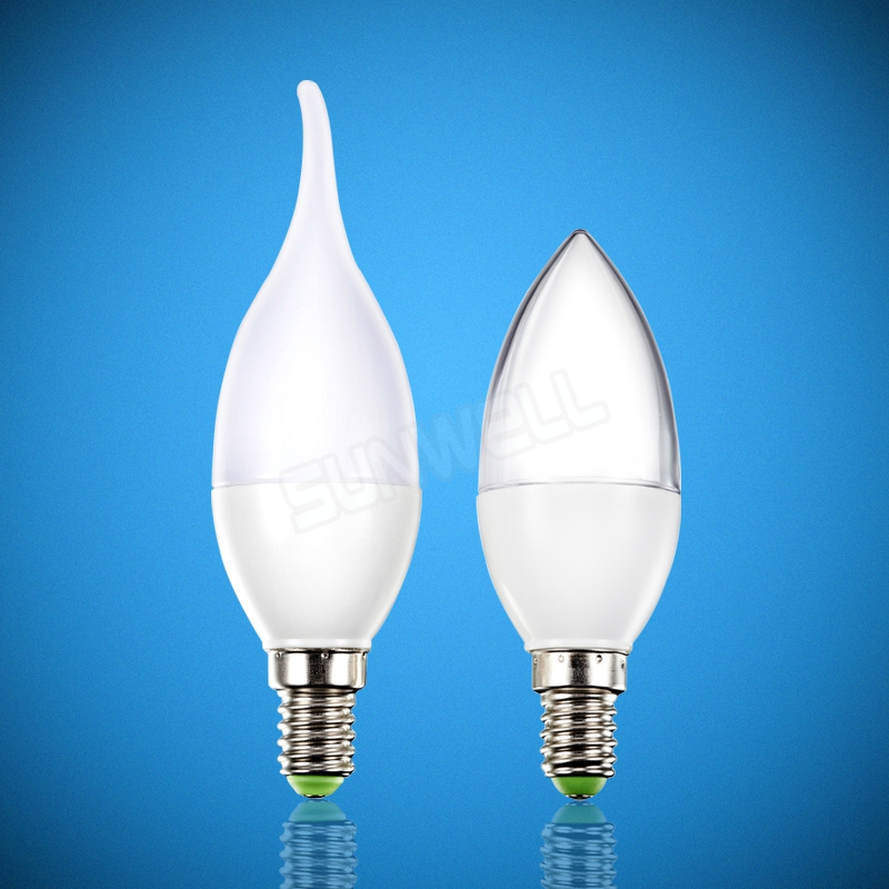 ce rohs glass shape led candle bulb 3w 4w e14 bulb lighting for indoor home appliance 3000k 4000k 6000k 3 years warranty(China (Mainland))