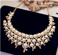 European-and-American-big-fake-pearl-collar-Korean-custom-exaggeration-short-clavicle-chain-necklace-female-jewelry