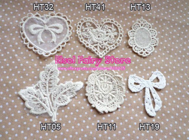 Wholesale Cloth Paste Fabric Paste, DIY Decoration Flower Lace Badge, Lace Patch Free shipping 30pcs/lot Mix design acceptable