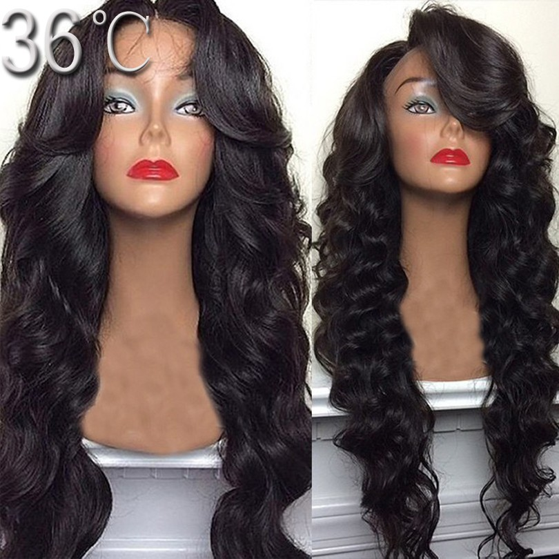 Фотография 150 density virgin hair glueless full lace wig body deep wave lace front wig full lace human hair wig for black women u part wig