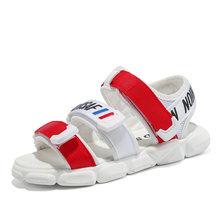 קיץ ילדים בני נעלי 1-4 שנים ישן תינוק סנדלי ילדים ילדי של החלקה מקרית סנדלי שחור כחול אדום ילד חוף נעליים(China)