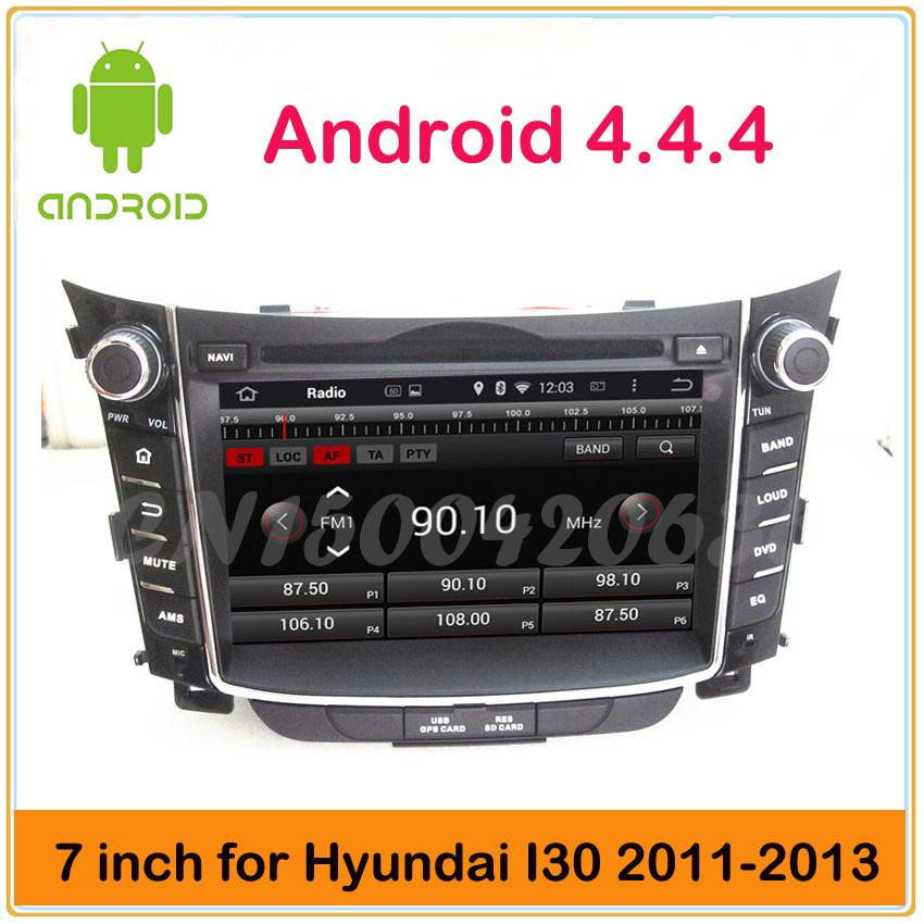 7 inch android 4.4 bluetooth AUX GPS navigation 3g/wifi mp4 radio car dvd for Hyundai I30 2013 2012 2011(China (Mainland))
