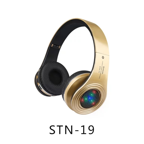 STN-19 Bluetooth 4.1 Headphone Wireless Headband Earphone Hands Free Music With LED MF/TF for Apple Samsung HTC LG Mobile Phone(China (Mainland))