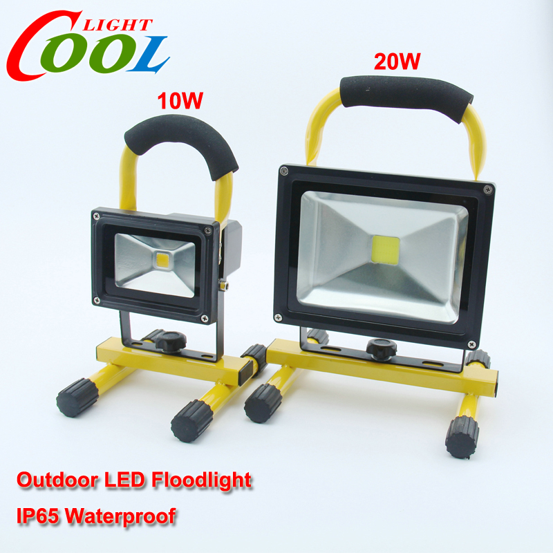 Waterproof Portable floodlight 10W/20W Rechargeable flood light IP65 Warm white/white outside Camping lamp <br><br>Aliexpress